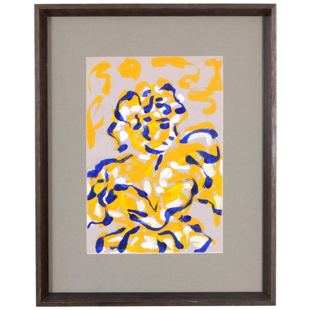 P. Callahan Woman in Blue & Orange Painting - Image 1 of 5