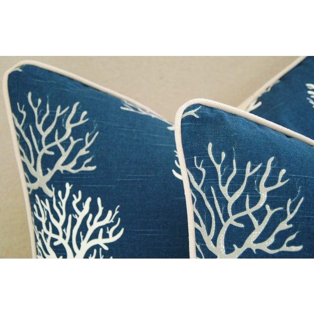 Custom Ocean & Beach Coral Branch Pillows - A Pair - Image 6 of 10