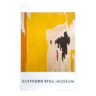 "Clyfford Still Abstract Expressionist Lithograph Print Poster ""Ph - 1074"", 1956"