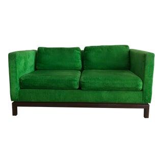 1960s Selig for W & J Sloane Green Velvet Sofa