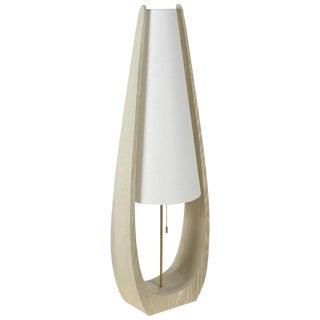 Wishbone Table Lamp in Gray Ceruse Oak