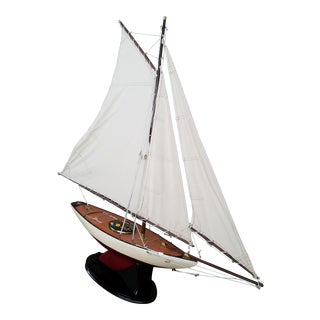 1923 Antique Sailboat Model