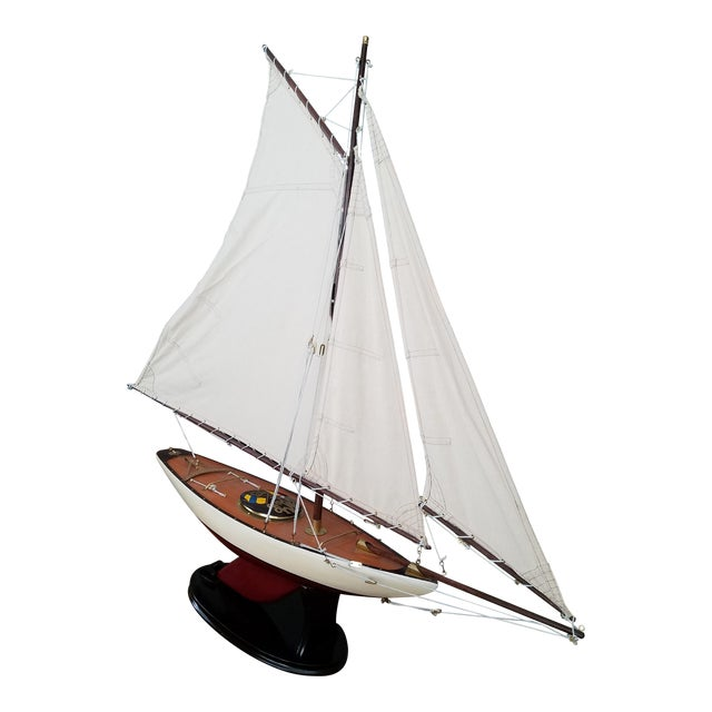 1923 Antique Sailboat Model - Image 1 of 6