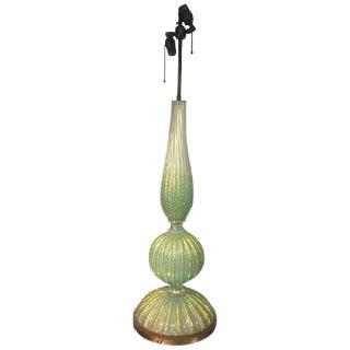 BEAUTIFUL BAROVIER & TOSO MURANO GLASS CORDONATO D'ORO TABLE LAMP