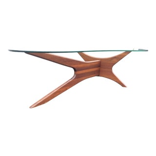 Craft Associates Freeform Walnut Cocktail Table Jacks Model