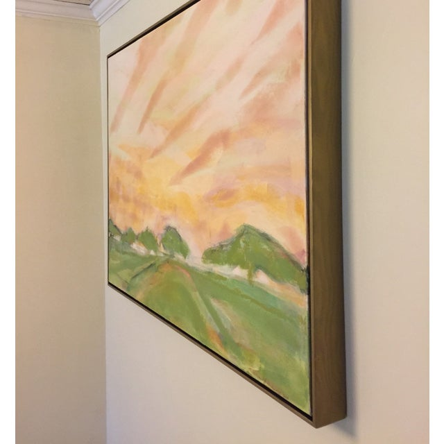 Image of Oaks & Field Abstract Landscape Painting