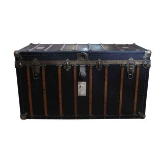 Locking Steamer Black Trunk