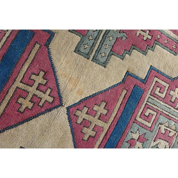 Turkish Hand-Knotted Wool Rug - 6′5″ × 4′3″ - Image 5 of 6