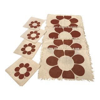 Vintage Floral Placemats & Napkins - Set of 8