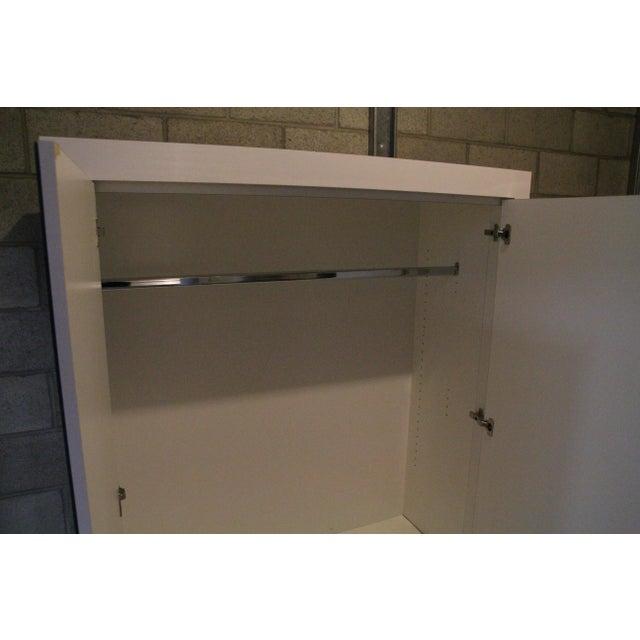 Ebbett Design & Associates White Mirrored Armoire - Image 8 of 9