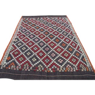 Vintage Handwoven Turkish Kilim Rug - 5.5' x 8.5'