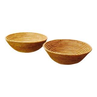 Vintage Handwoven Baskets - A Pair