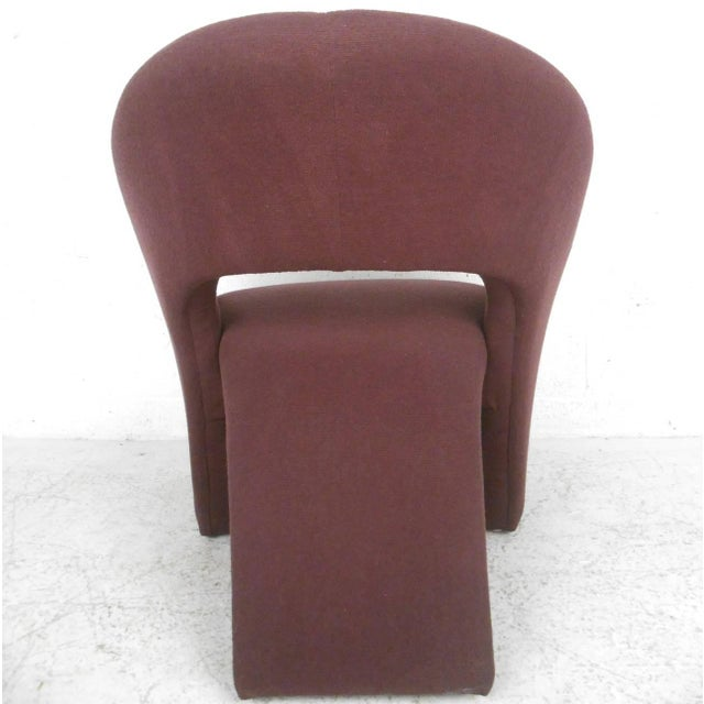 Contemporary Modern Sculptural Lounge Chair with Ottoman - Image 8 of 11