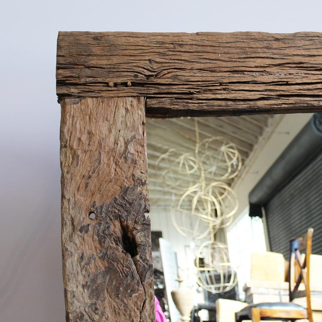 Rustic Wood Mirror - Image 3 of 3
