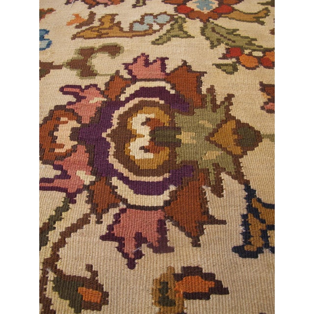 Bessarabian Room-Size Woven Kilim - Image 8 of 10