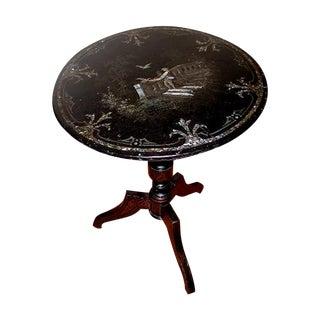 Napoleon III C.1850 Flip Top Inlaid Table
