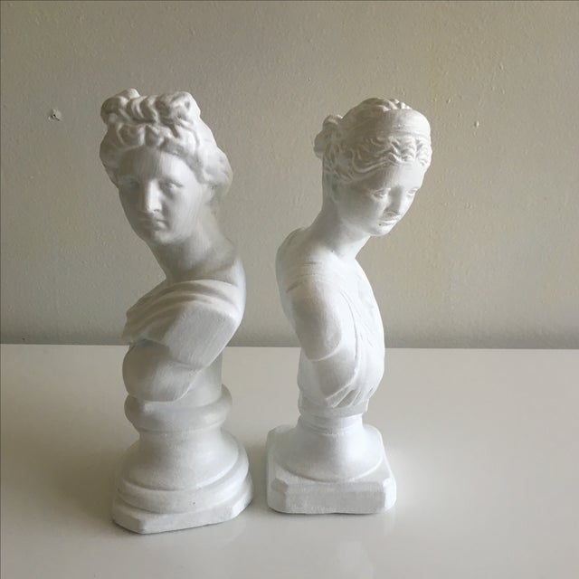 Vintage Greek Busts - Pair - Image 3 of 10