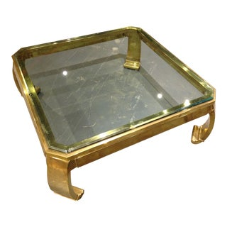 Brass Coffee table in the manner of Karl Springer
