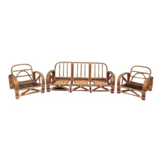 Ritts Co. Mid-Century Modern Bamboo Sofa & Chairs