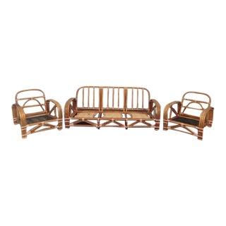 Ritts Co. Mid-Century Modern Bamboo Sofa & Chairs