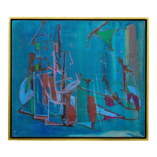 Robert Kaess Vintage Midcentury Abstract Painting