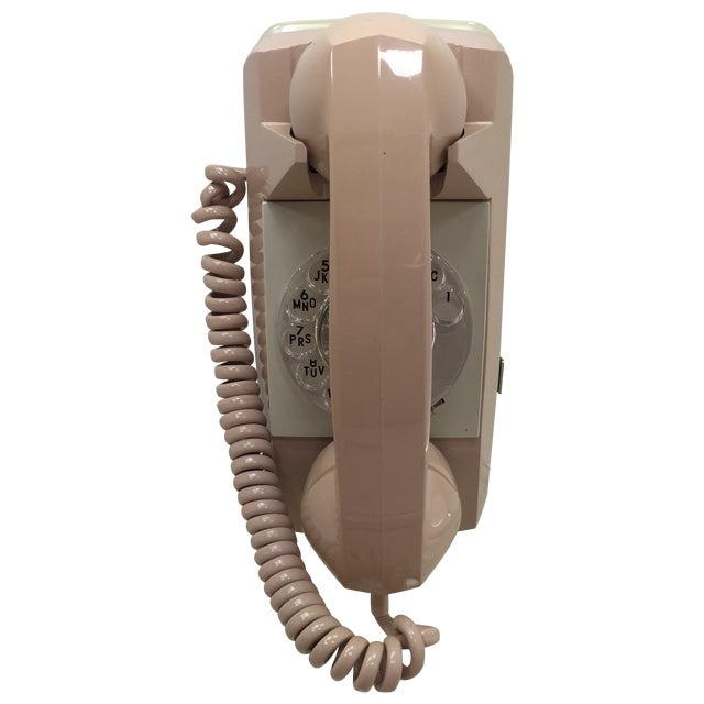 Beige Starlight Rotary Dial Wall Phone - Image 1 of 10