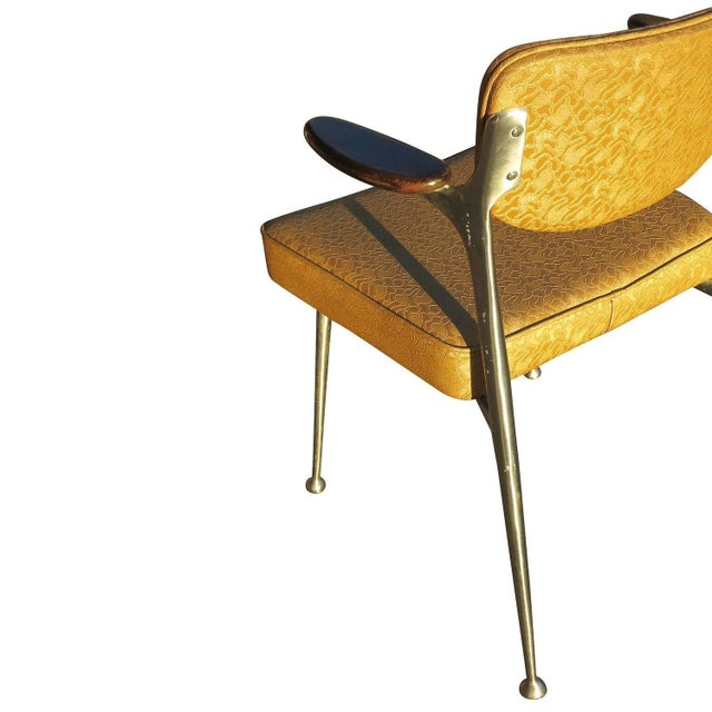 Aluminum Gazelle Armchairs by Shelby Williams -S/4 - Image 6 of 10