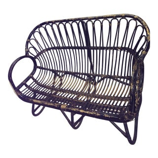 Franco Albino Style Wicker Loveseat