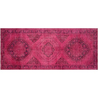 "Vintage Turkish Overdyed Runner - 4'10""x12'6"""