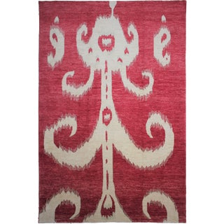 """Hand Knotted Ikat Rug - 14'2"""" X 10'1"""""""