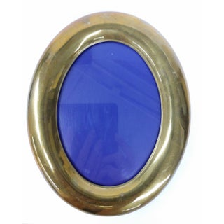Vintage Brass Lucite Bakelite Oval Photo Frame