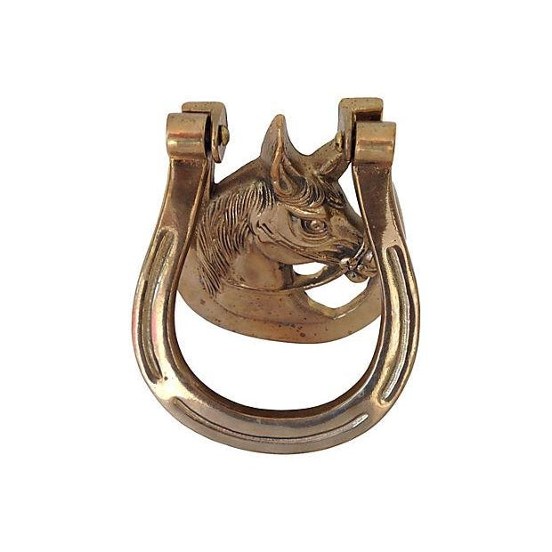 Lucky Horseshoe Brass Door Knocker - Image 2 of 5