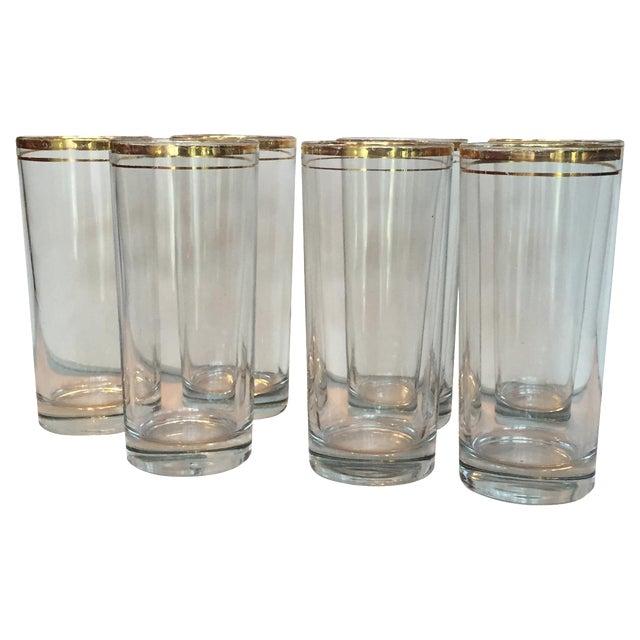 Gold Trimmed Glasses - Set of 7 - Image 1 of 10