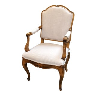 White Bergere Accent Chair