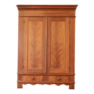 1860s Cherry Wood Armoire