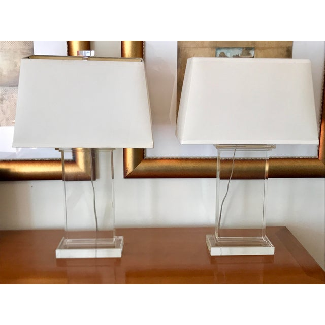 Restoration Hardware Crystal Pier Lamps - A Pair - Image 6 of 8
