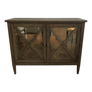 Antique Mirrored Door Buffet Cabinet