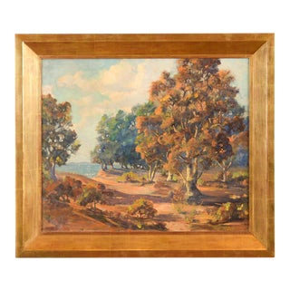 Impressionist Horatio Nelson Poole Large California Landscape Oil Painting