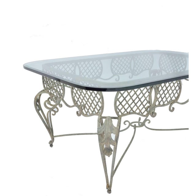 Iron Tole & Glass French Coffee Table - Image 4 of 4
