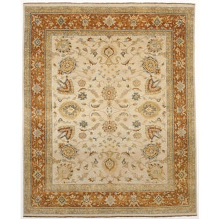 """Hand-Knotted Indian Rug - 8'1"""" x 9'11"""""""