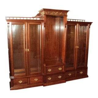Antique Cherry Bookcase Display Cabinet