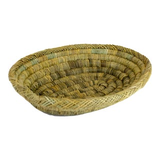 Handmade Rustic Moroccan Oval Bread & Fruit Basket