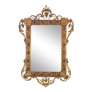 Dore Bronze & Porcelain Mirror