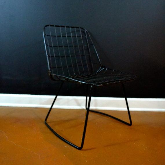 Vintage Danish Modern Wire Side Chair - Image 6 of 10