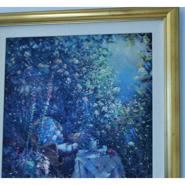 "Oil on Canvas - Paul Matthews ""Trellished Path"" - Image 3 of 7"