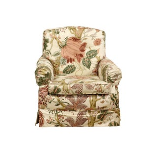 Armchair With Floral Upholstery