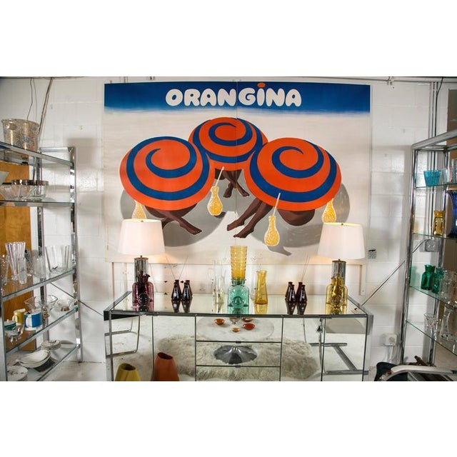 Vintage Orangina Advertisement Poster by Bernard Villemot - Image 1 of 8