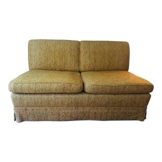 Vintage Gold Bouclé Upholstered Loveseat