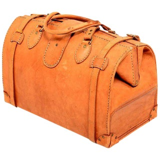 Vintage Saddle Leather Dr. Bag