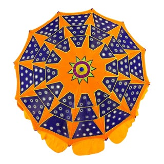 Vintage Geometric Patchwork Garden Sun Umbrella